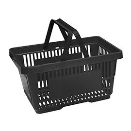 20L Shopping Baskets - Black