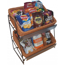 2 Tier Display Unit - Polywicker Baskets