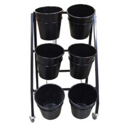 6 Bucket Flower Stand (With lockable castors)