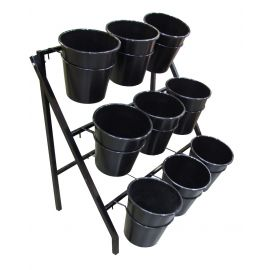 9 Bucket Flower Stand (With lockable castors)