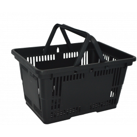 28L Shopping Basket - Black