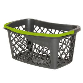 ECO Shopping Basket - Black (Green Handle)