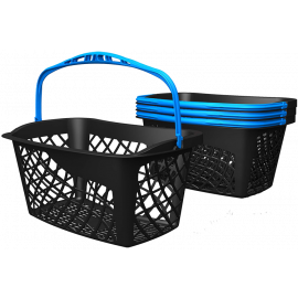 ECO Shopping Basket - Black (Blue Handle)