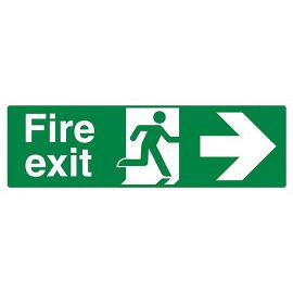 Fire Exit Signs Sticker Arrow Right