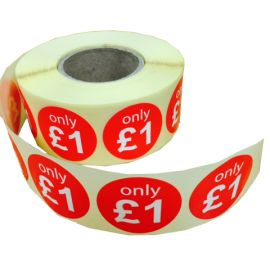 "Promotional Retail & Pricing Stickers - ""Only £1"""