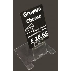 Clear Price Label Holder-Short