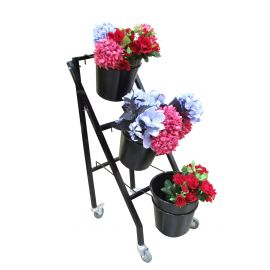 3 Bucket Flower Stand (With lockable castors)