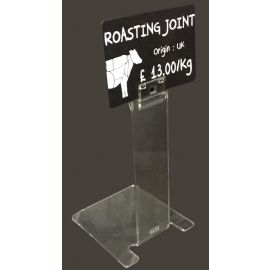 Clear Price Label Holder-Tall
