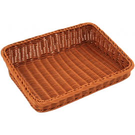 Tappered Brown Polywicker Basket