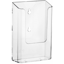 DL 1/3 A4 Wall Mounted Clear Brochure Holders