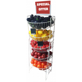 5 Tier Wire Retail Display Unit